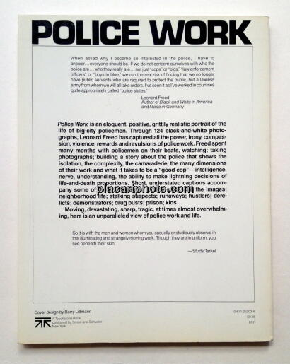 Leonard Freed,Police Work (Signed)