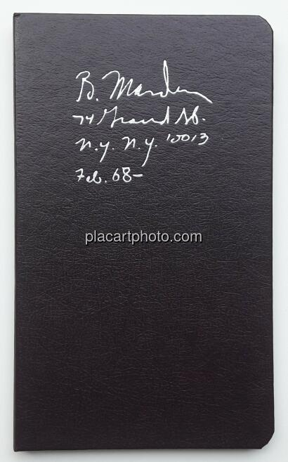 Brice Marden,Notebook Feb. 1968- (sealed copy)