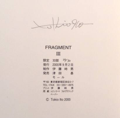 Tokio Ito,Fragment III (Signed) (Only 30 copies)